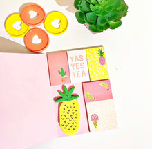Load image into Gallery viewer, Fruity - Fruit Sticky Notes in Watermelon Shaped Booklet - The Dallas Gordon Collection