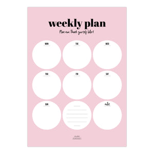 Weekly Plan Pink Notepad - The Dallas Gordon Collection