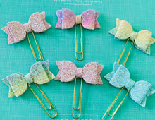 Load image into Gallery viewer, Allure - Glitter Bow Planner Paper Clips - The Dallas Gordon Collection
