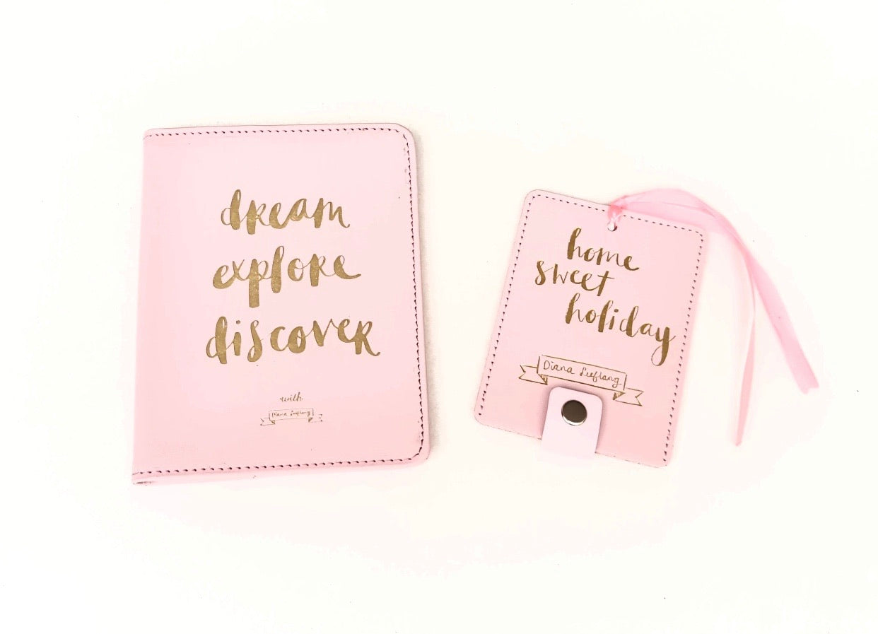 Dream Explore Discover - Passport & Luggage Tag Set - The Dallas Gordon Collection