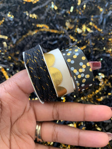 Holiday Cheer - Black and Gold Twine and Washi Tape Set of 3 - The Dallas Gordon Collection