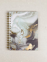 Load image into Gallery viewer, Swirl Girl - Black Gold Marble Splashed Journal - The Dallas Gordon Collection