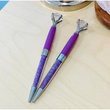 Load image into Gallery viewer, BeYouTiful - Purple Crystal and Diamond Top Pen - The Dallas Gordon Collection