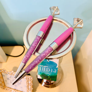 BeYouTiful - Purple Crystal and Diamond Top Pen - The Dallas Gordon Collection