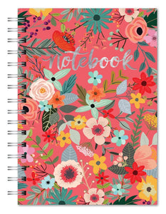 Secret Garden - Flower Print Spiral Notebook - The Dallas Gordon Collection