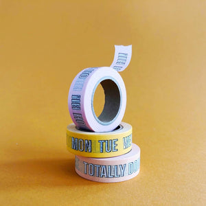 """Oh Hi"" - Pink Quote Washi Tape - The Dallas Gordon Collection"