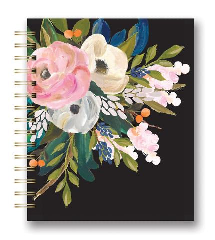 Bella Flower Spiral Tabbed Notebook (Closeouts) - The Dallas Gordon Collection