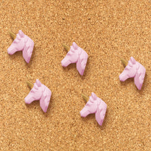 Load image into Gallery viewer, Unicorn - Gold and Pink Pushpins Set of 5 - The Dallas Gordon Collection