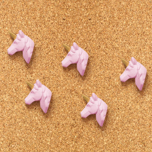 Unicorn - Gold and Pink Pushpins Set of 5 - The Dallas Gordon Collection