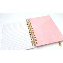 Load image into Gallery viewer, Notes of a Genius - Pink Lined A6 Journal with Pockets - The Dallas Gordon Collection