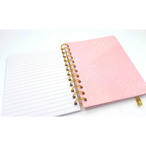 Notes of a Genius - Pink Lined A6 Journal with Pockets - The Dallas Gordon Collection