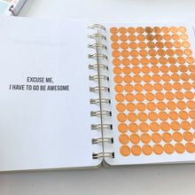 Load image into Gallery viewer, Get Stuff Done - Off White Mini Planner with Gold Foil - The Dallas Gordon Collection