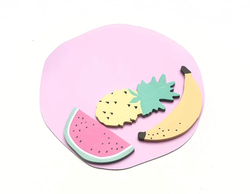 Fruity - Fruit Sticky Notes in Watermelon Shaped Booklet - The Dallas Gordon Collection
