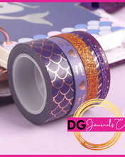 Load image into Gallery viewer, Mermaid Love Washi Tape Set - The Dallas Gordon Collection