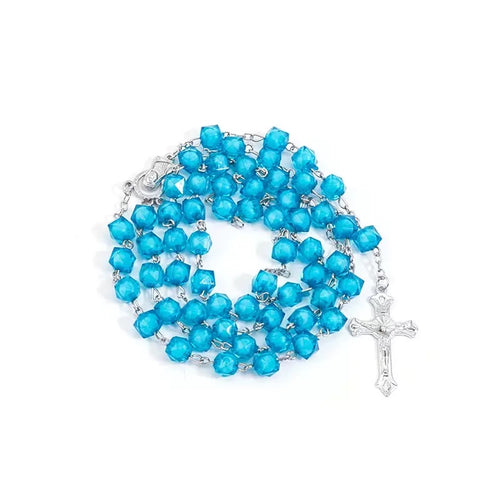 Grab Bag: Blue Prayer Rosary Beads (must add with an item outside of grab bag) - The Dallas Gordon Collection