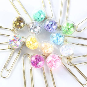 It's a Party - Planner/Paper Clip with Confetti Filled Globe - The Dallas Gordon Collection