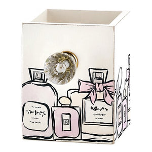 Oh So Sweet! - Perfume Printed Pen Holder with Jeweled Knob - The Dallas Gordon Collection