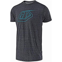 Load image into Gallery viewer, Troy Lee Designs Mens TLD Shield Logo Short-Sleeve T-Shirt (Onyx Snow/Blue, Medium)