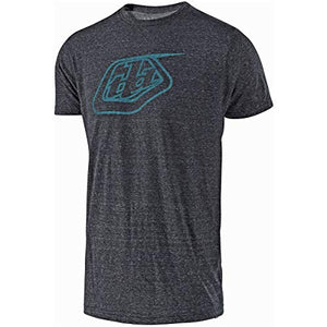 Troy Lee Designs Mens TLD Shield Logo Short-Sleeve T-Shirt (Onyx Snow/Blue, Medium)