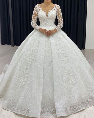 Lace Wedding Dresses Long Sleeves