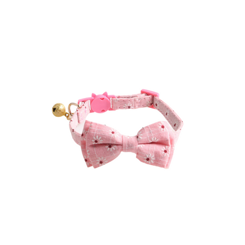 stylish bow & bandana collar design natural material easy to clean made from cotton break-free secure system soft touch, will not hurt your cat's neck
