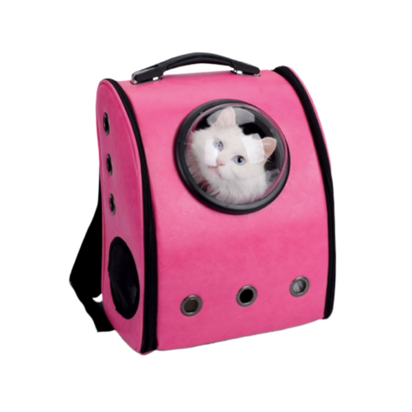 The stylish capsule bag is a perfect travel accessory for your cat. Your furry friend can see the world though the backpack's window, relax and enjoy the journey.