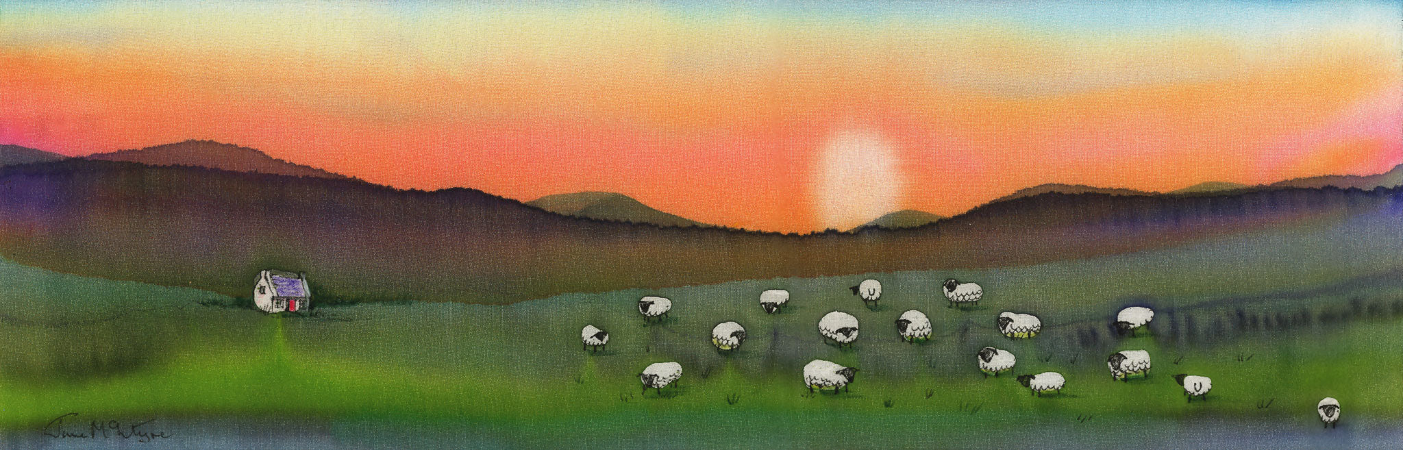 Sheep at Sunset Limited Edition