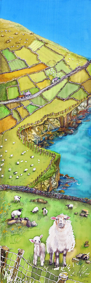 Sheep on a Cliff