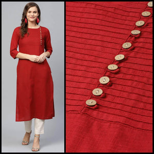 Lemon Tart Clothing LTK102 Pintuck Detail Stitched Kurti