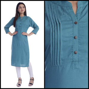 Lemon Tart Clothing LTK109 Pintuck Detail Stitched Kurti - LB