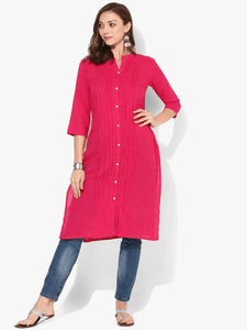 Lemon Tart Clothing LTK24 Pleat Detail Kurti - Pink