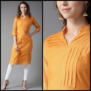Lemon Tart Clothing LTK77 Pleat Detail Stitched Kurti