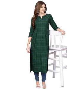 Lemon Tart Clothing LTK93 Grid Print Detail Stitched Kurti