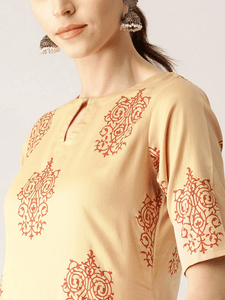 Lemon Tart CUTS106 2 Piece Block Printed Unstitched Cambric Suit
