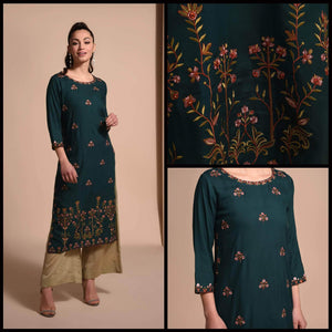 Lemon Tart CUTS176 Embroiderd Unstitched Cambric Kurti