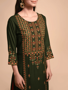 Lemon Tart CUTS211 Embroiderd Unstitched Cotton Kurti
