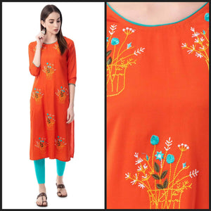 Lemon Tart CUTS218 Embroiderd Unstitched Cotton Kurti