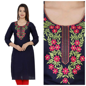 Lemon Tart CUTS243 Embroiderd Unstitched Cotton Kurti