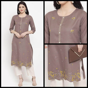 Lemon Tart CUTS259 Embroiderd Unstitched Cotton Kurti
