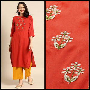 Lemon Tart CUTS263 Embroiderd Unstitched Cotton Kurti