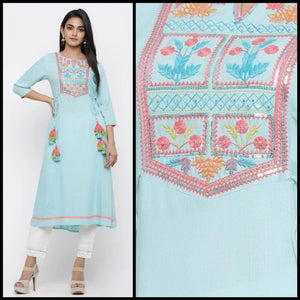 Lemon Tart CUTS269 Embroiderd Unstitched Cotton Kurti