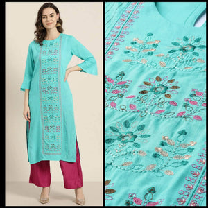 Lemon Tart CUTS271 Embroiderd Unstitched Cotton Kurti