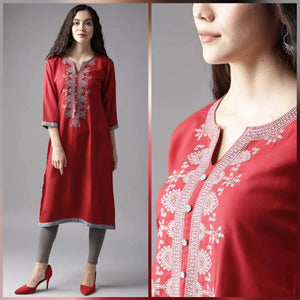 Lemon Tart CUTS46 Embroiderd Unstitched Cambric Kurti