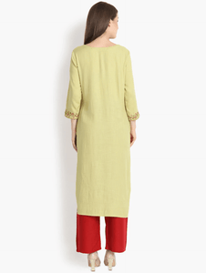 Lemon Tart CUTS49 Embroiderd Unstitched Cambric Kurti