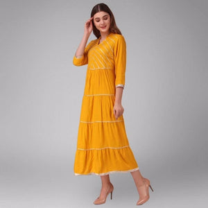 Lemon Tart Lace Detail Long Maxi Dress LTAMD33