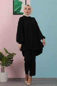 Lemon Tart LTMODS2 Modest Tunic and Pant Set - Black
