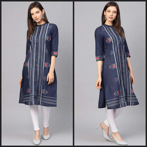 Lemon Tart LTUS277 Block Printed Lawn Unstitched Kurti