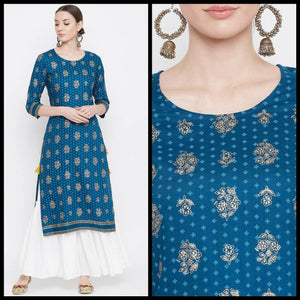 Lemon Tart LTUS365 Gold Foil Block Printed Lawn Unstitched Kurti