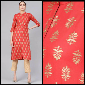 Lemon Tart LTUS395 Gold Foil Block Printed Lawn Unstitched Kurti