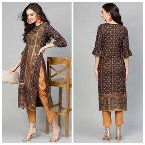 Lemon Tart LTUS97 1 Piece Gold Pasting Printed Unstitched Lawn Kurti